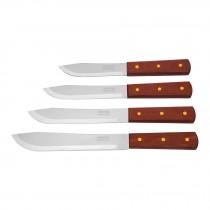 Cuchillos cebolleros, mango de madera, Pretul