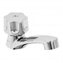 Llave individual para lavabo, ABS, maneral hexagonal, Basic