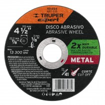 """Disco para corte de metal 4-1/2"""" tipo 41, Truper Expert"""