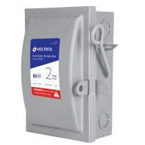 Interruptor de seguridad 2 polos, 30 A, Volteck