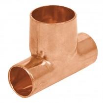 Tees reducidas, cobre a cobre a cobre