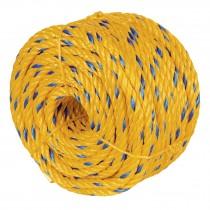 Cuerda torcida de polipropileno, amarilla, 8 mm x 34 m