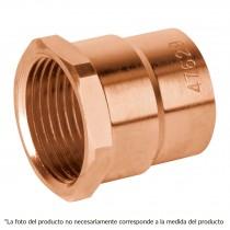 "Conector de cobre, rosca interior, 1/2"", Basic"