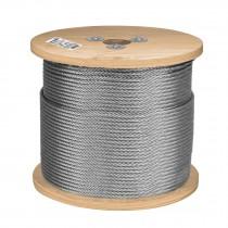 Cable de acero, 7X7, carrete de madera 75 m