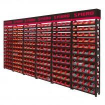 Rack modular para tornillos con 288 gavetas