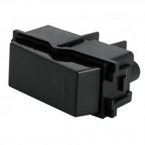Interruptor para timbre, línea Italiana, color negro