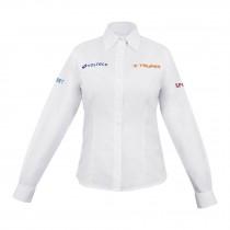 Camisas blancas manga larga, para dama