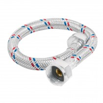 Manguera flexible para WC, 35 cm, aluminio, Foset Basic