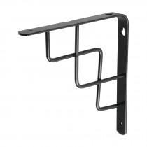 """Ménsula reforzada negra diseño escalera, 8 x 8"""""""