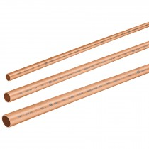 "Tubos rígidos de cobre tipo ""L"", 3 m"