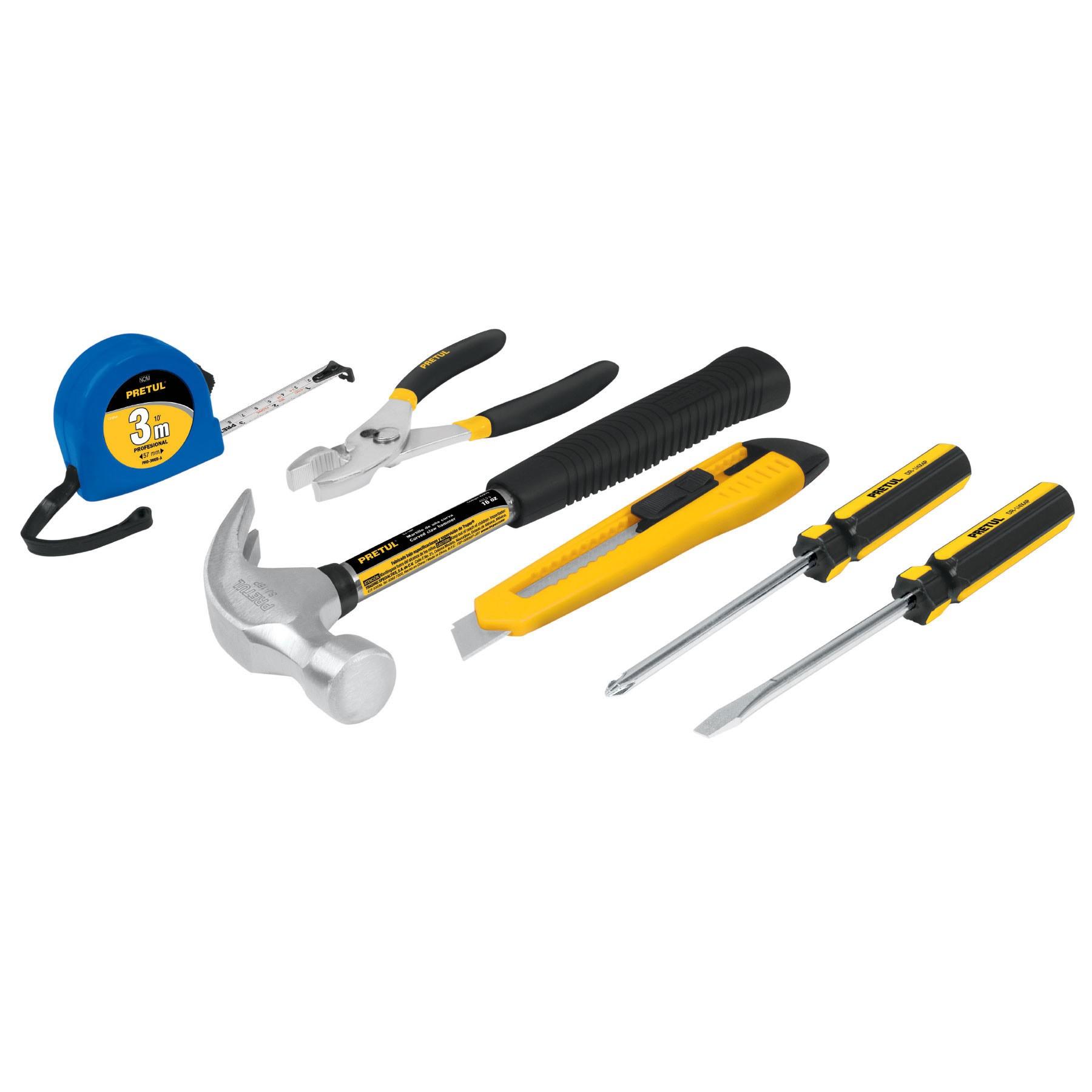 Juego casero de herramientas, 6 piezas, Pretul
