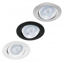 Luminarios empotrables de LED redondos, spot dirigible