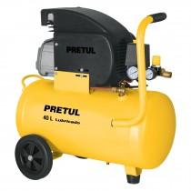 Compresor, 40 L, 3 HP (potencia máxima ), 127 V, Pretul