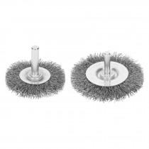 """Cardas circulares, alambre grueso, calibre 0.3 mm, con zanco de 1/4"""" para taladro"""