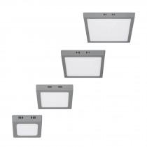 Luminarios cuadrados de LED tipo plafón de sobreponer, color gris