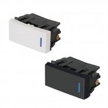 Interruptores de 3 vías, 1 módulo, línea Española