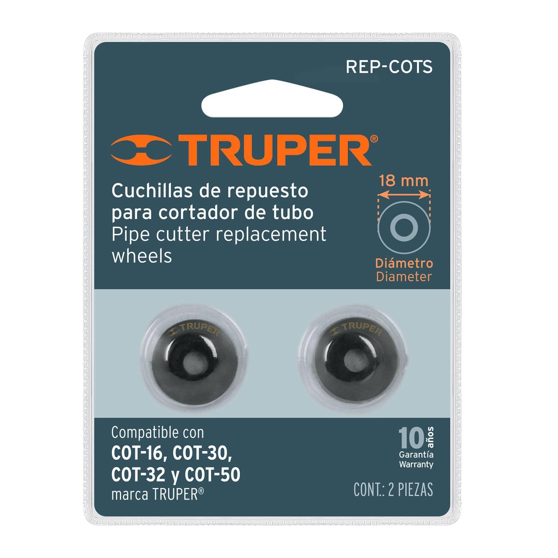 Repuesto de cuchillas para cortador de tubo COT-16-50, 2pzas