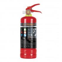 Extintor recargable portátil 1 kg, polvo tipo ABC
