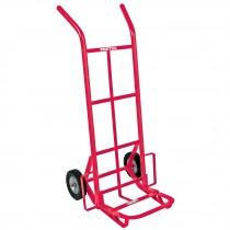 Diablo de carga de 100 kg, ruedas sólidas, balero sencillo