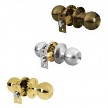 Cerraduras de pomo tipo esfera, mecanismo tubular, para entrada