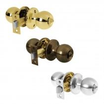 Cerraduras tipo esfera, mecanismo tubular, para baño en blíster