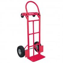 Diablo de carga de 385 kg, de plataforma, ruedas neumáticas