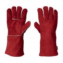 Guantes rojos para soldador
