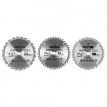 "Disco sierras diámetro 7 1/4"", centro 5/8"", para madera, Pretul"