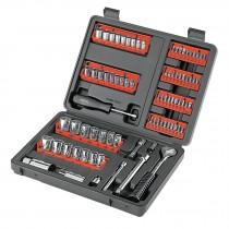 Juego de herramientas para mecánico, 81 piezas, Pretul