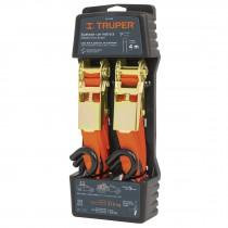 Sujetadores con matraca, carga máxima 1125 kg, 2 piezas