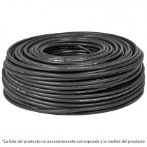 Cable THHW-LS, 12 AWG, color negro rollo 100 m