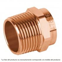 """Conector de cobre, rosca exterior, 1"""", Basic"""