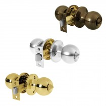 Cerraduras de pomo tipo esfera, mecanismo tubular, para baño
