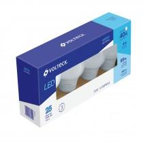 Pack de 4 lámparas de LED, A19, 6 W, luz de día, Volteck