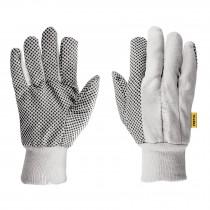 Guantes de algodón con puntos PVC en palma, unitalla, Pretul