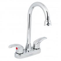 Mezcladora p/lavabo, manerales palanca, cromo, Aqua