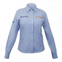 Camisas azules manga larga, para dama