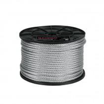 Cables de acero, 7 X 7 hilos carrete de plástico 75 m