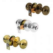 Cerraduras de pomo tipo oval, mecanismo cilíndrico, para recámara