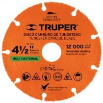 """Disco de carburo de Tungsteno 4-1/2"""", multiusos"""
