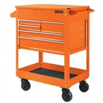Gabinete metálico móvil con 5 cajones, capacidad 320 kg
