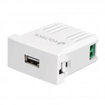Cargador USB a la pared, 2.1A, línea Oslo, color blanco