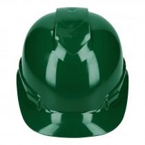 Casco de seguridad ventilado, ajuste de matraca, verde