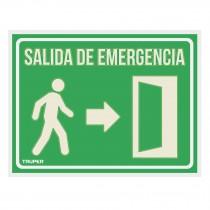 "Letrero de señalización ""SALIDA DE EMERGENCIA"", 21 x 28 cm"