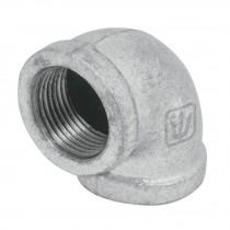 Codos 90° de acero galvanizado