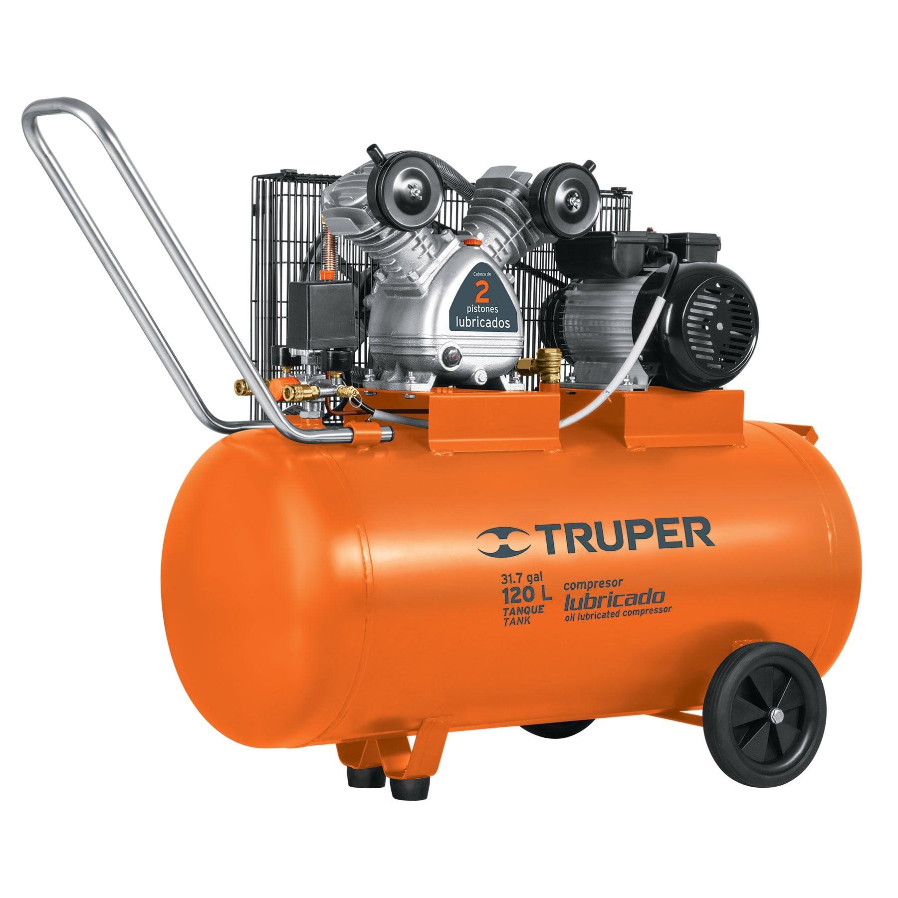 Compresor horizontal 120 L, 4 HP (potencia máxima), 220 V