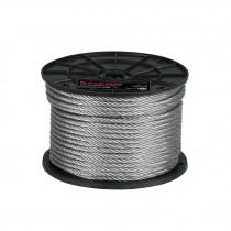 Cables de acero, 7 X 19 hilos, carrete de plástico 75 m