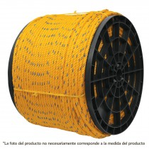Cuerda torcida de polipropileno, amarilla, 6 mm x 1100 m