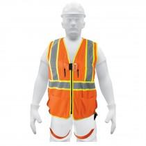Chaleco de seguridad para arnés, alta visibilidad, naranja