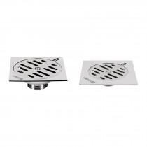 Resumideros cuadrados metálicos con rejilla de acero inoxidable, Basic